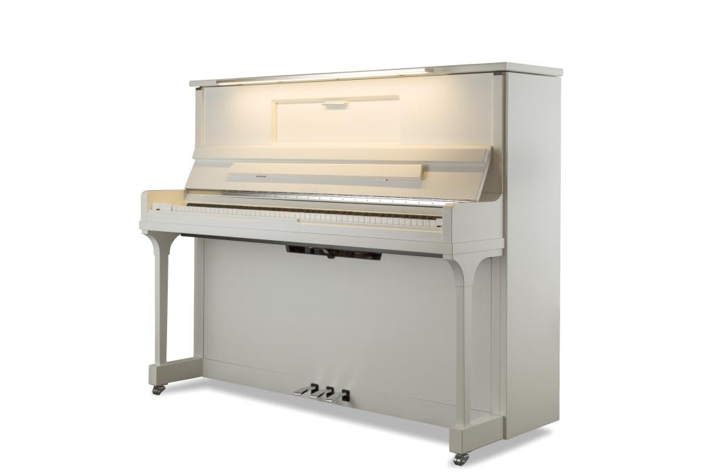 Feurich Klavier Mod. 123 Vienna weiß satiniert LED