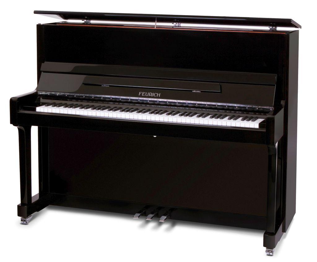Feurich Klavier Mod. 122 schwarz Chrome
