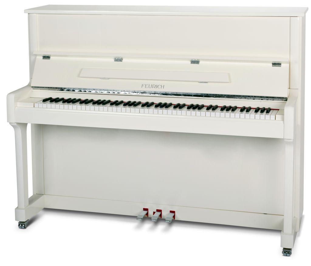 Feurich Klavier Mod. 122 weiß Chrome