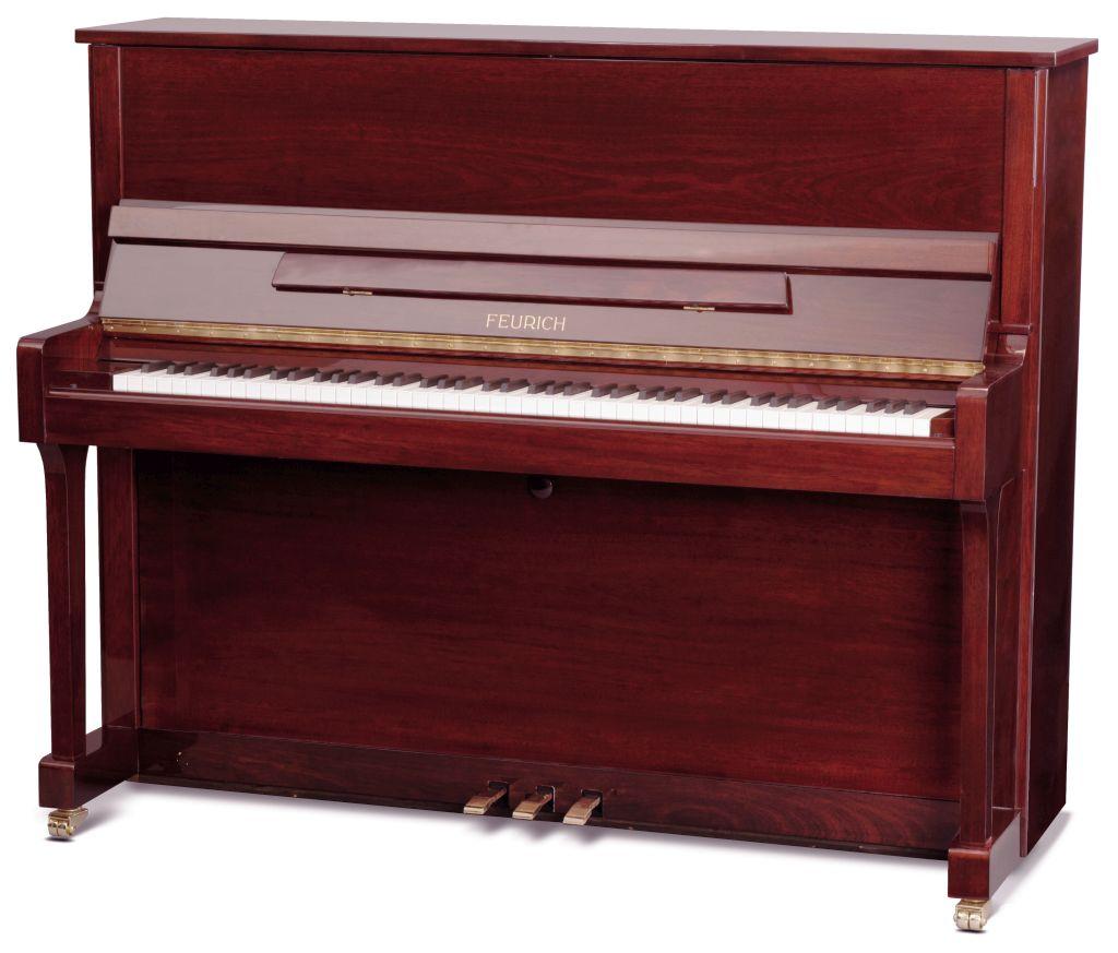 Feurich Klavier Mod. 122 Bordeaux poliert
