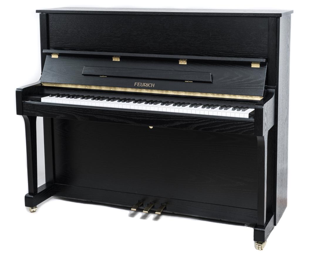 Feurich Klavier Mod. 122 Eiche schwarz satiniert