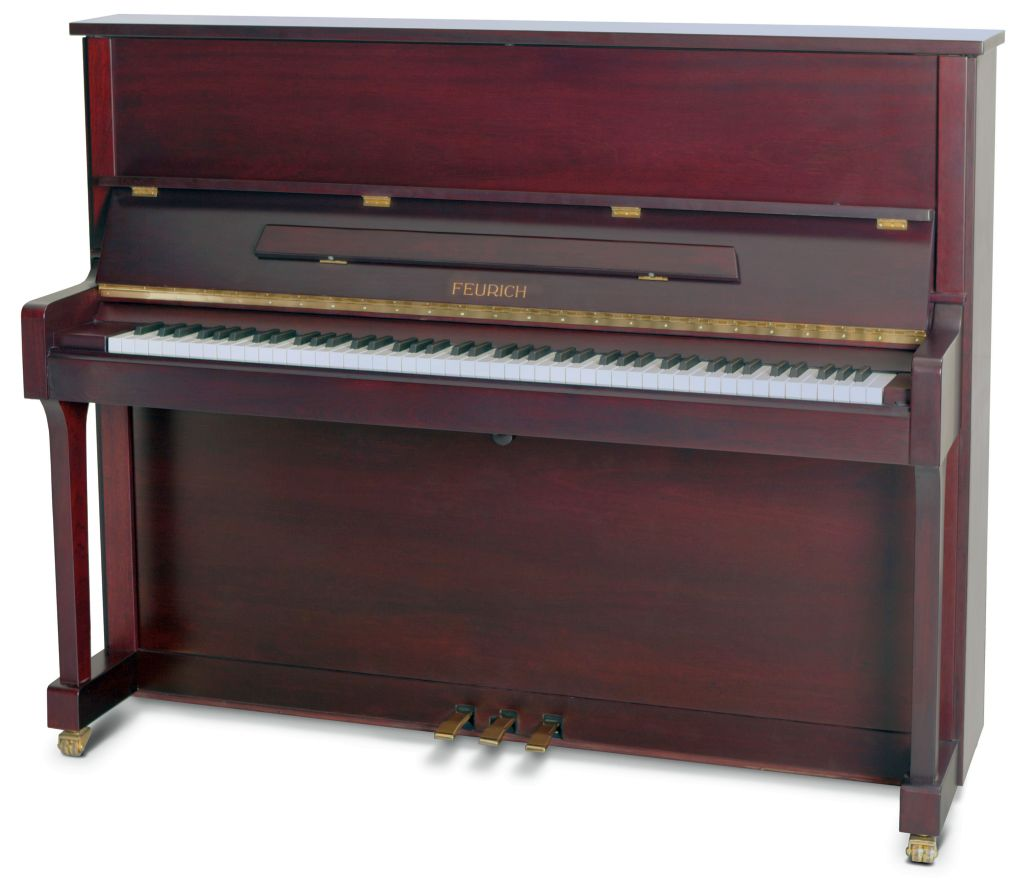 Feurich Klavier Mod. 122 Bordeaux satiniert