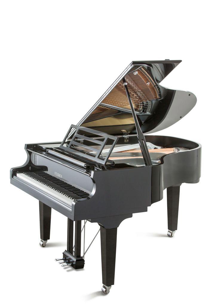 Feurich Klavier Mod. 179 schwarz poliert Chrom