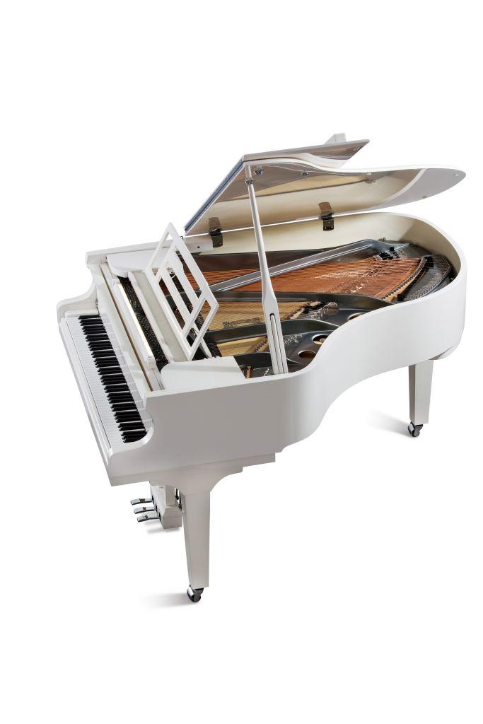 Feurich Klavier Mod. 179 weiß poliert Chrom