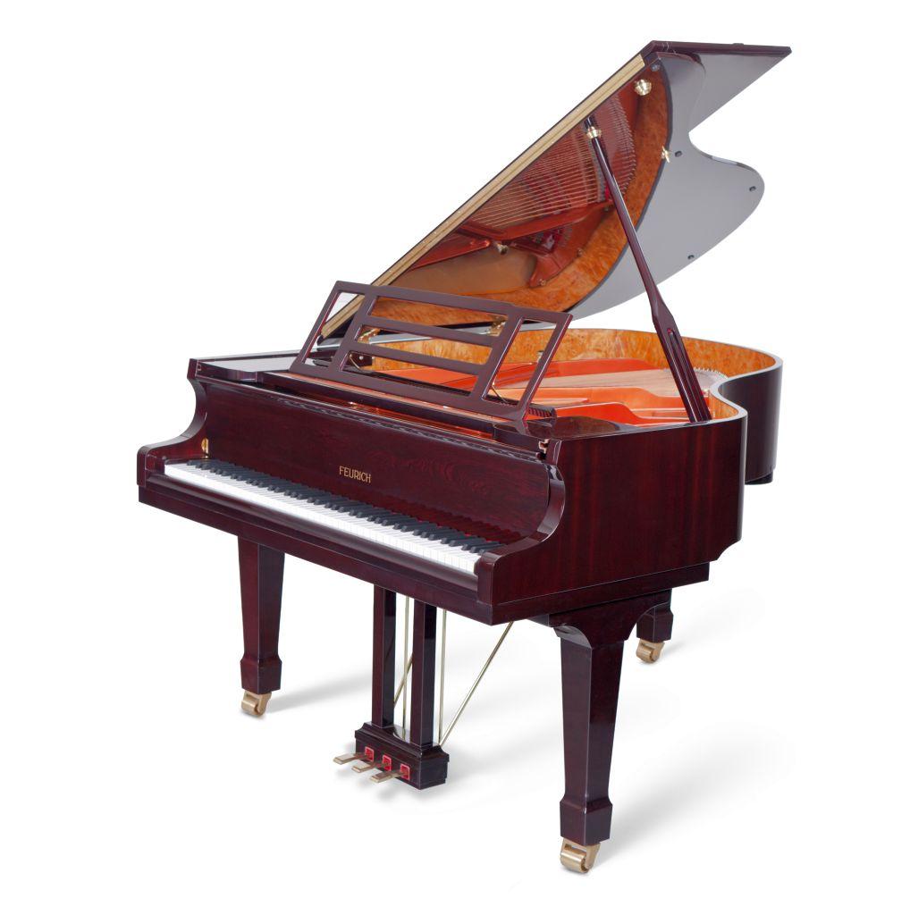 Feurich Klavier Mod. 179 Bordeaux poliert